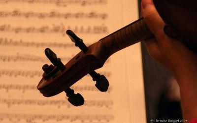 Muziek, repetitie van een orkest